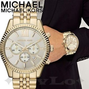 "**NEW""* Michael Kors MK8281 Lexington Chrono Gold"